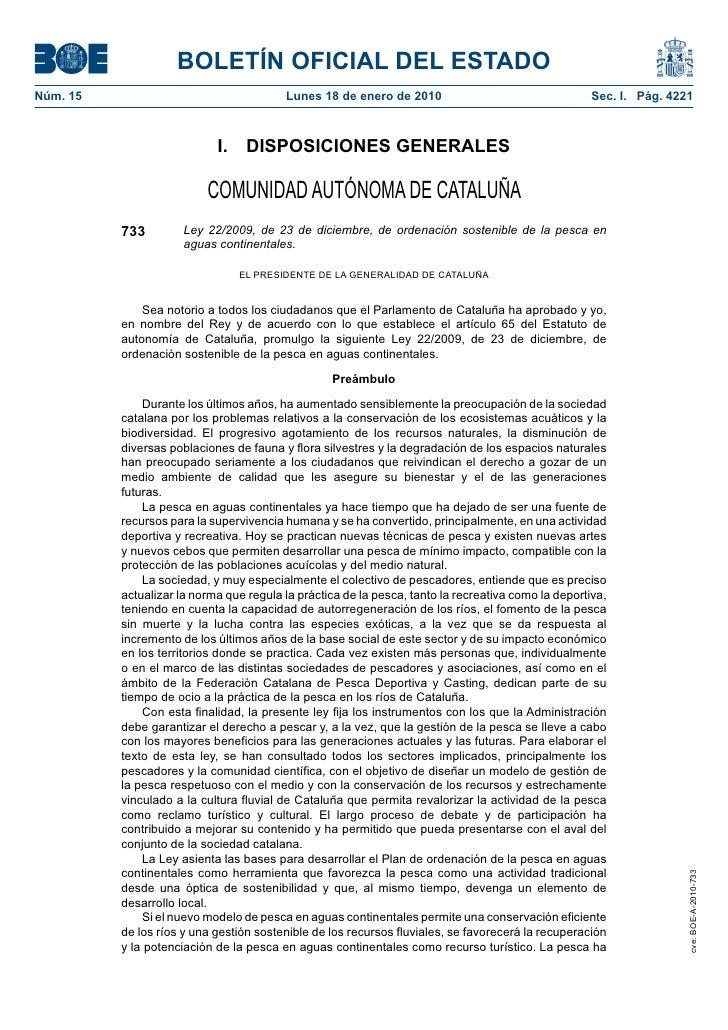 BOLETÍN OFICIAL DEL ESTADO Núm. 15                                  Lunes 18 de enero de 2010                             ...