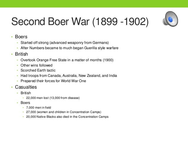 causes of the boer war From soon after its acquisition by britain during the napoleonic wars, the  and  the boer desire for to stay outside the british empire all caused more friction,.