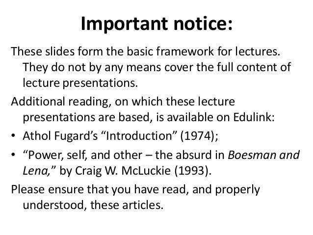 boesman and lena act 1 summary