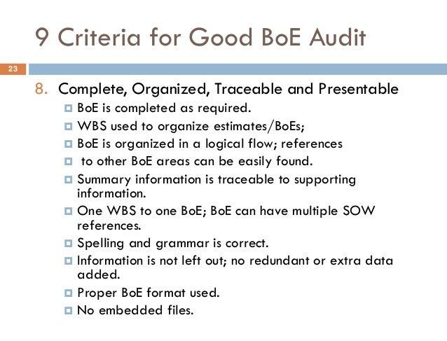 Basis of estimate proposal software   boemax   projstream.