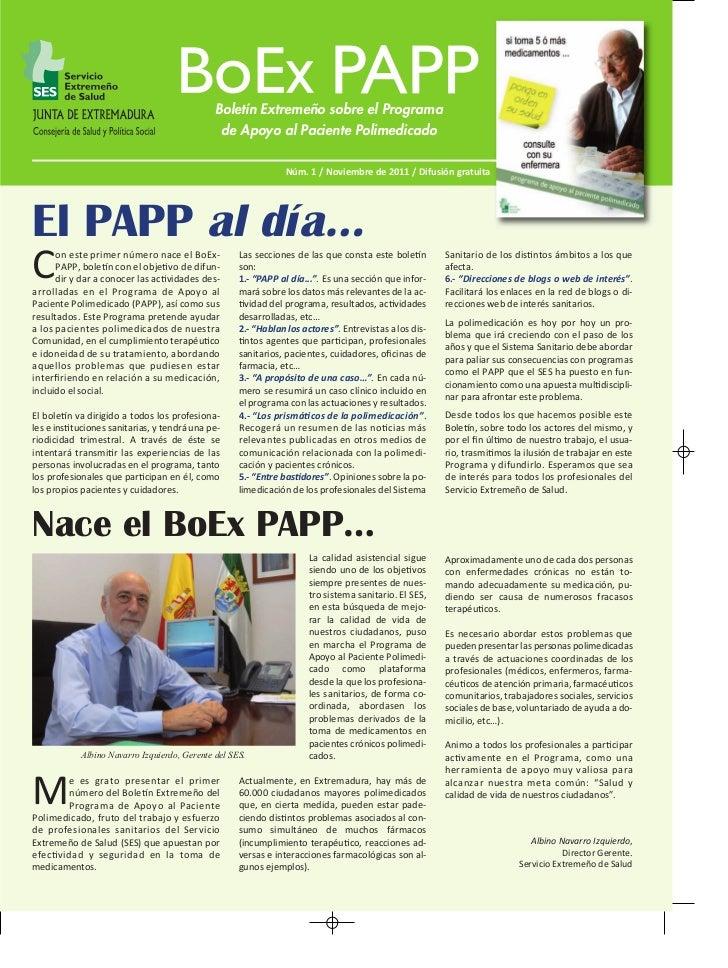 Boletín Extremeño sobre el Programa                                                  de Apoyo al Paciente Polimedicado    ...