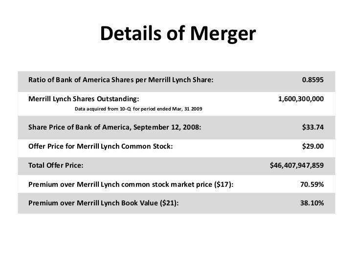 bank of america and merrill lynch merger Bof A And Merrill Lynch Presentation Final