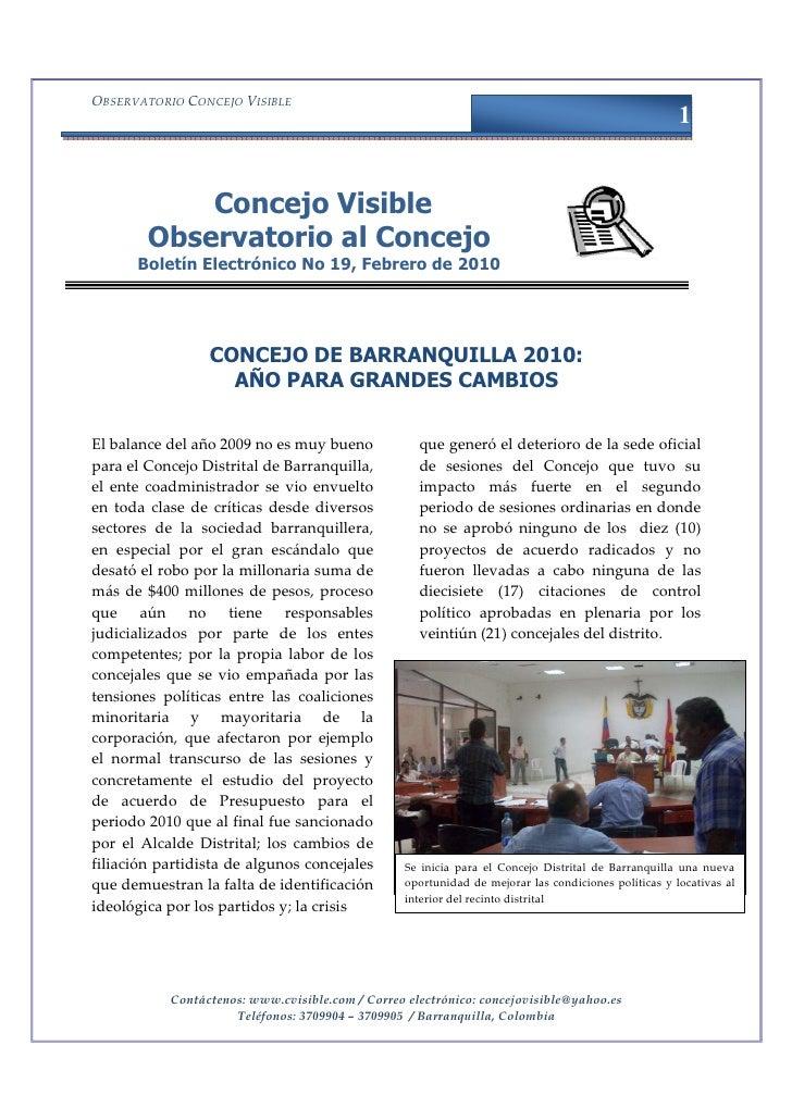 OBSERVATORIO CONCEJO VISIBLE                                                                                              ...