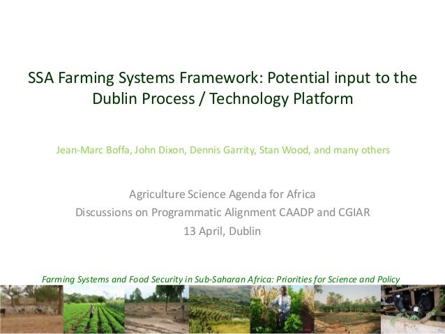 Farming Systems and Food Security in Sub-Saharan Africa: Priorities for Science and PolicySSA Farming Systems Framework: P...