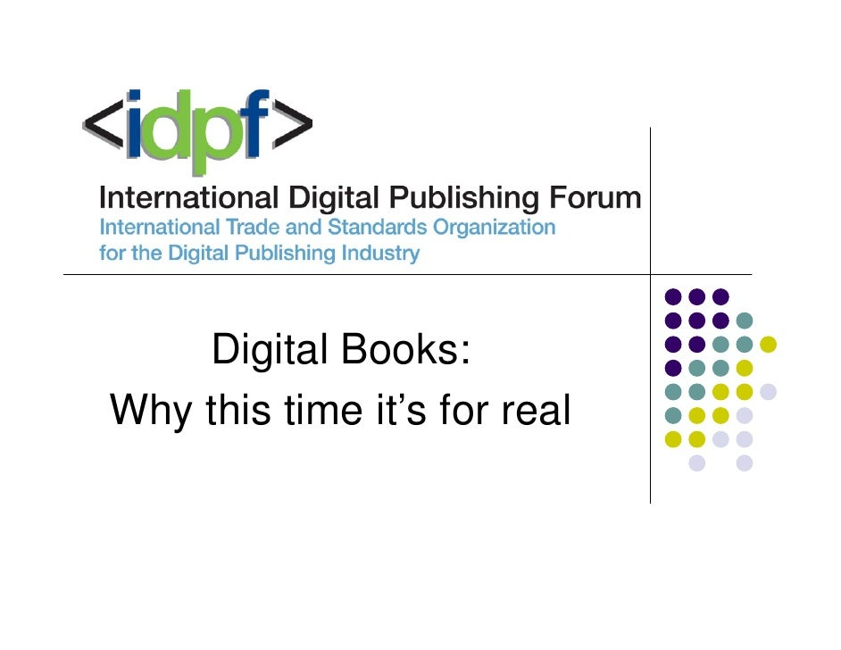 Digital Books: Why this time it's for real