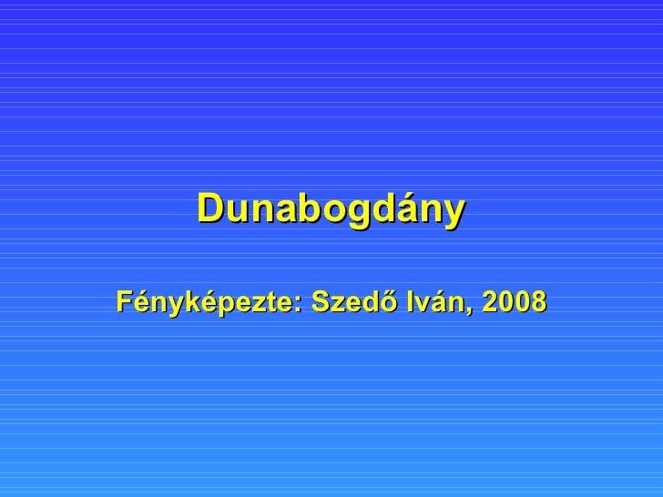 Dunabogdány Fényképezte: Szedő Iván, 2008