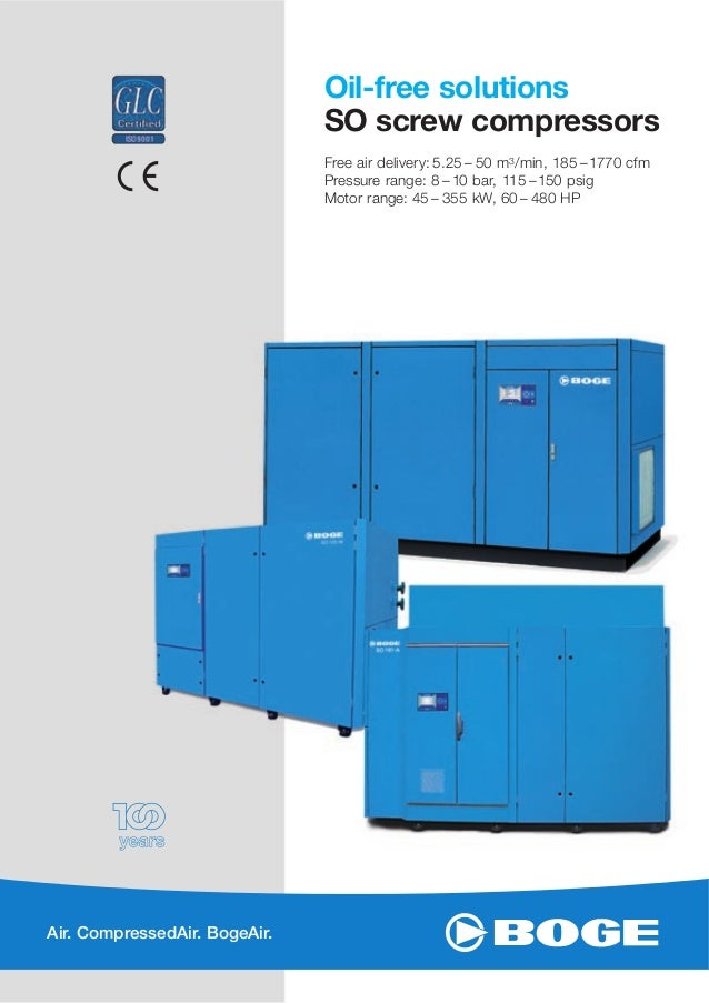 boge screw air compressors oil free solutions rh slideshare net Boge Compressors USA Boge Compressor Fault Codes