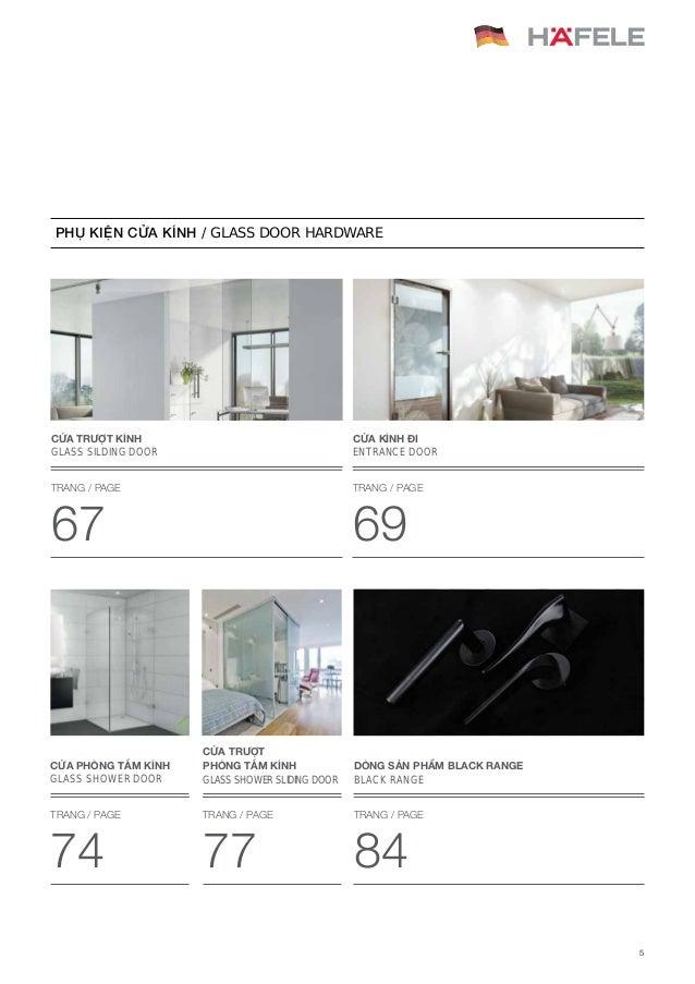 Catalogue Hafele - Phụ Kiện Cửa Hafele 2017