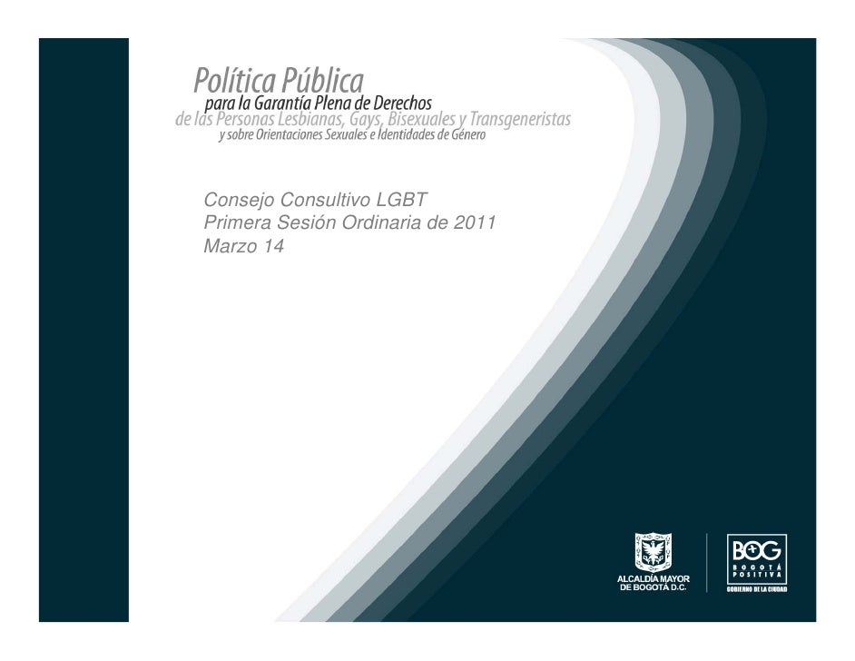 Consejo Consultivo LGBTPrimera Sesión Ordinaria de 2011Marzo 14
