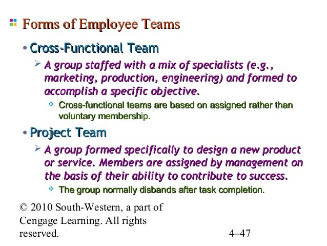 Group Formed Specifically To Design A New Product Or Service