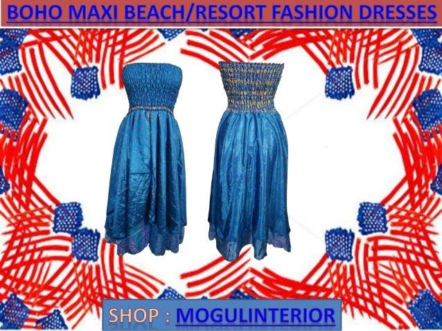 Boho maxi beach resort fashion dresses by mogulinterior