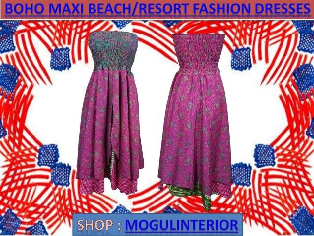 Boho maxi beach resort fashion dresses by mogulinterior Slide 2