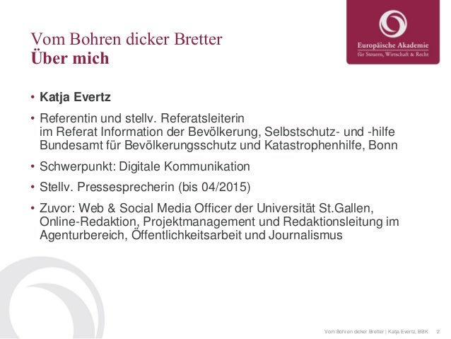 Vom Bohren dicker Bretter: Wie kommt eine Behörde ins Social Web? Slide 2