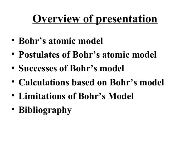 Bohrs Model For Hydrogen Atom