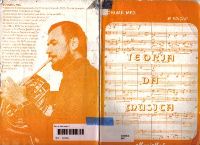 Bohumil med - Teoria da música