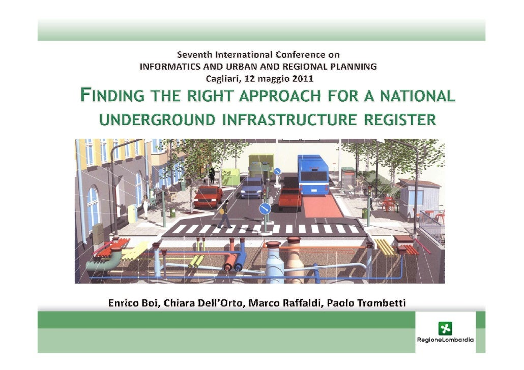 UNDERGROUND INFRASTRUCTURE REGISTER                  The register as an instrument of                  knowledge:         ...