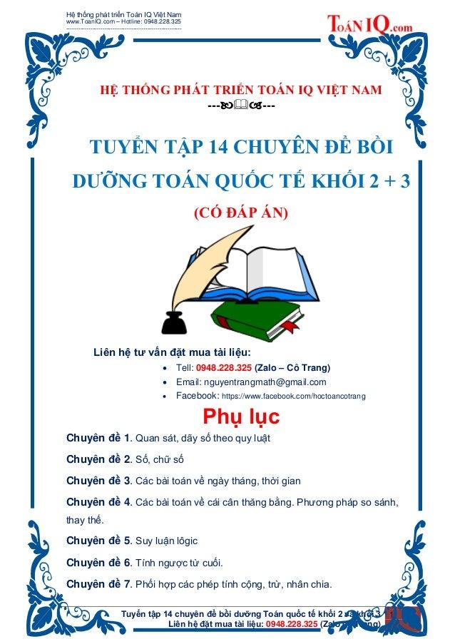 Hệ thống phát triển Toán IQ Việt Nam www.ToanIQ.com – Hotline: 0948.228.325 ----------------------------------------------...