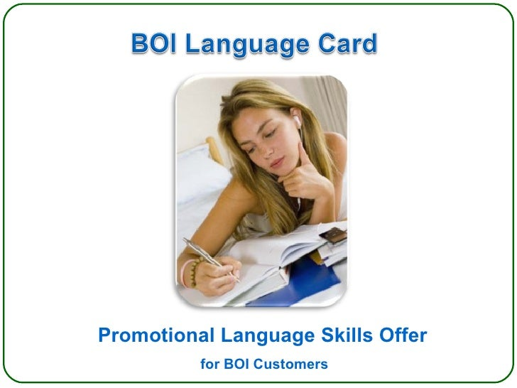 Promotional Language Skills Offer for BOI Customers