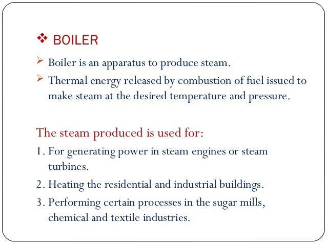 Boiler Introduction & Classification