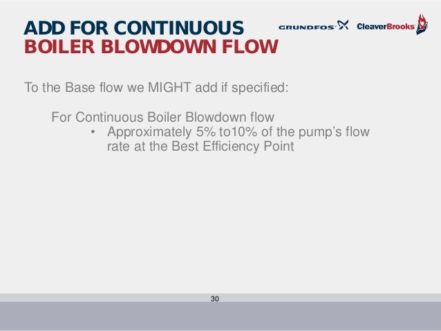 Boiler Feed And Pump Sizing C B And Grundfos July 2016 1