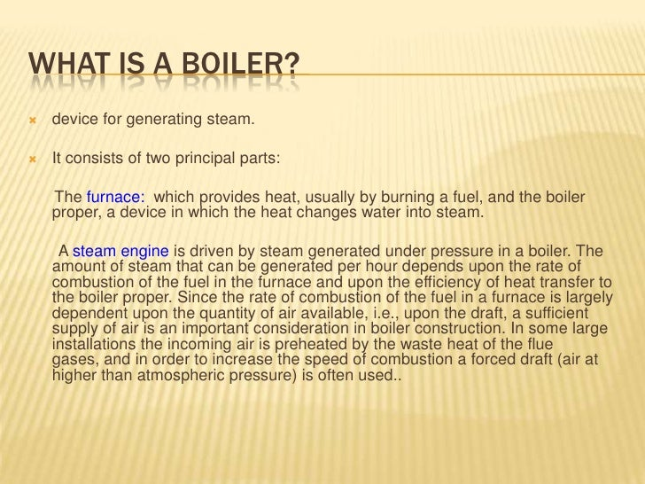 Boiler Machine