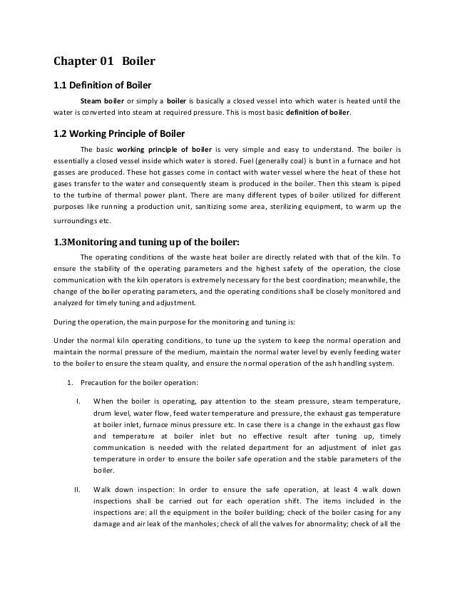 Boiler operation (2)