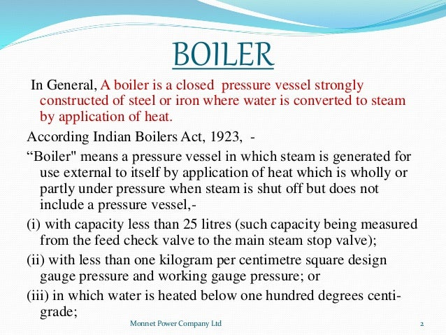 A Brief Introduction to Boilers