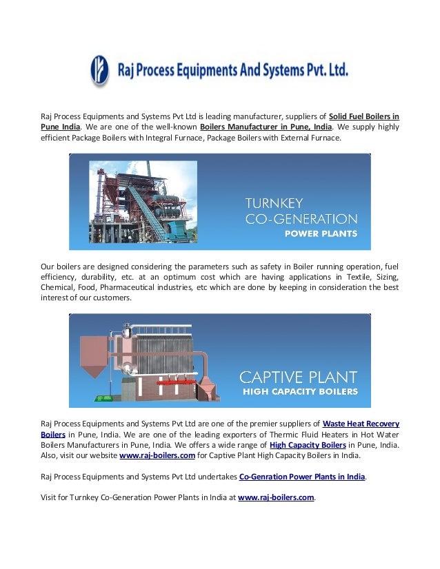 Boilers Manufacturers Pune, India