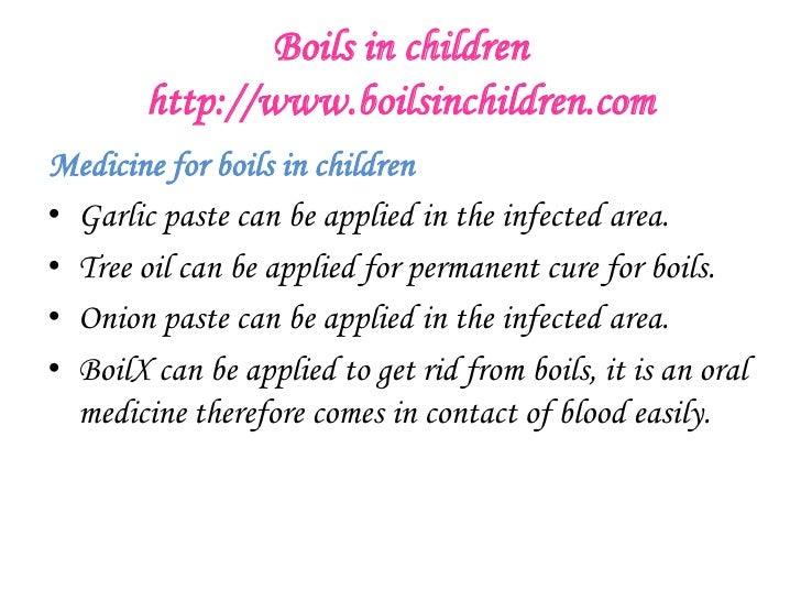 Boils in children