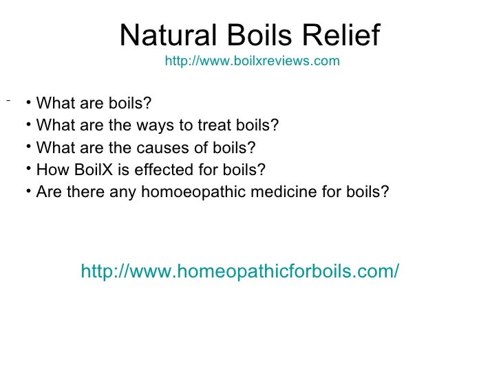 Get Rid Of Boils Naturally