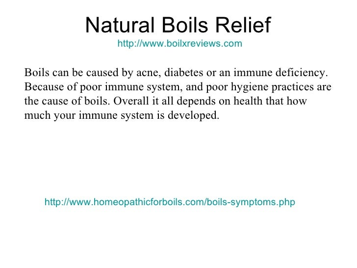 how to get rid of boils on neck