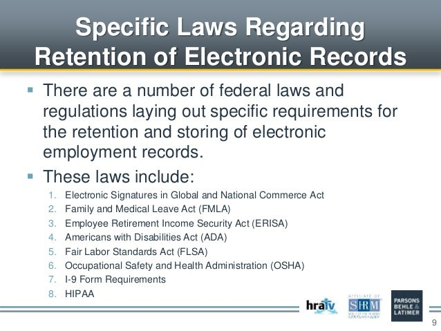 The Electronic Personnel File Legal Rules For The