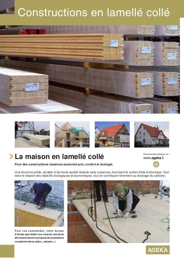 Bois lamell coll pr sentation et fiche technique 2016 - Lamelle colle prix ...