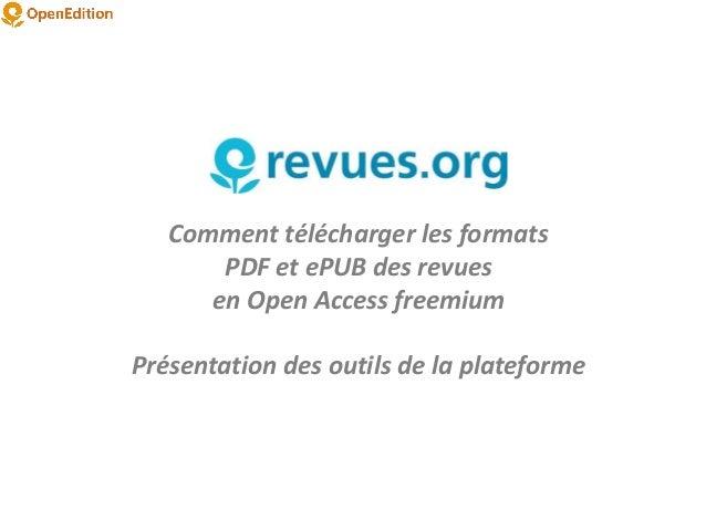Boite à outils : présentation des services freemium en ligne d'OpenEdition Slide 2