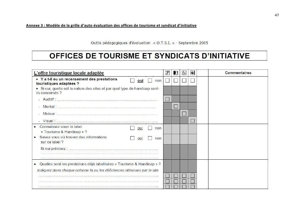 Boite outils mopa pour les offices de tourisme labellisation tour - Grille d auto evaluation ...