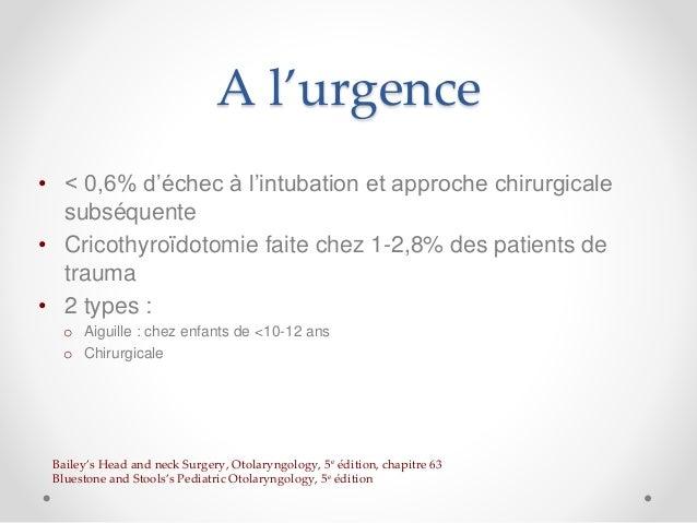 Cricothyroïdotomie Slide 2