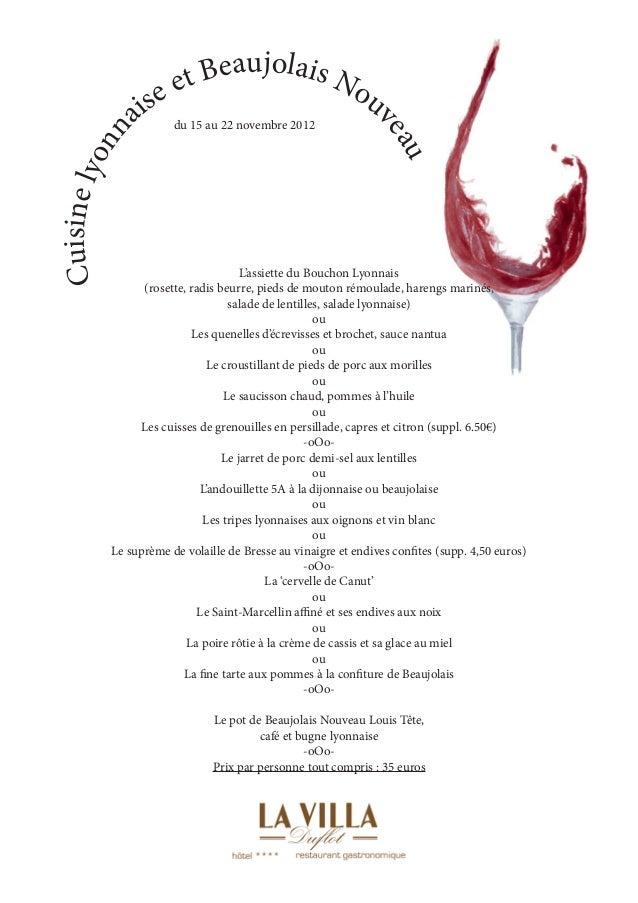 et Beaujolais N                  se                         ou                ai du 15 au 22 novembre 2012                ...