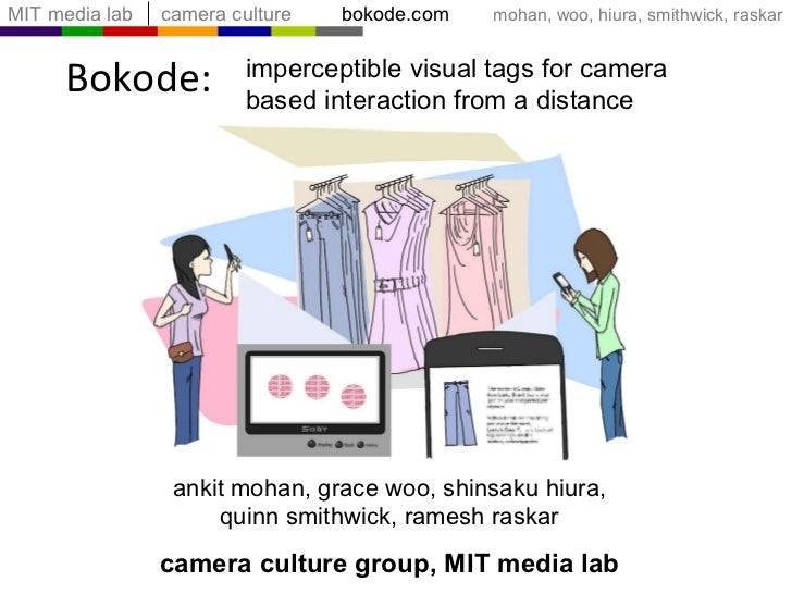 Bokode: ankit mohan, grace woo, shinsaku hiura, quinn smithwick, ramesh raskar camera culture group, MIT media lab imperce...