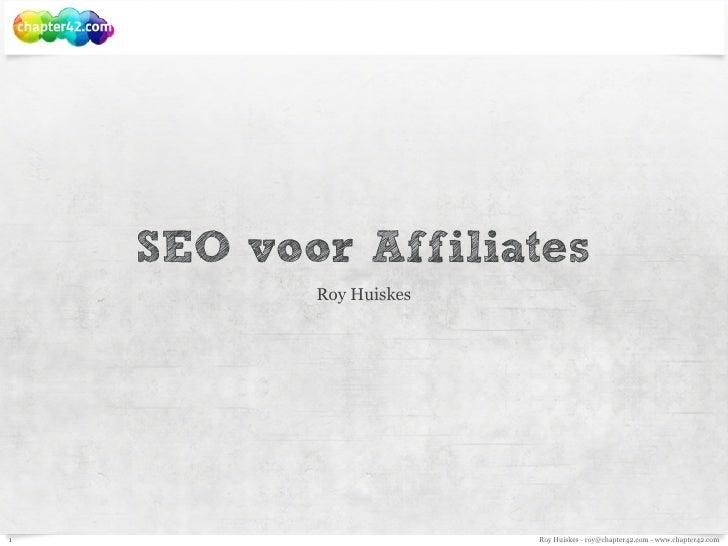 Bol.com affiliateseminar