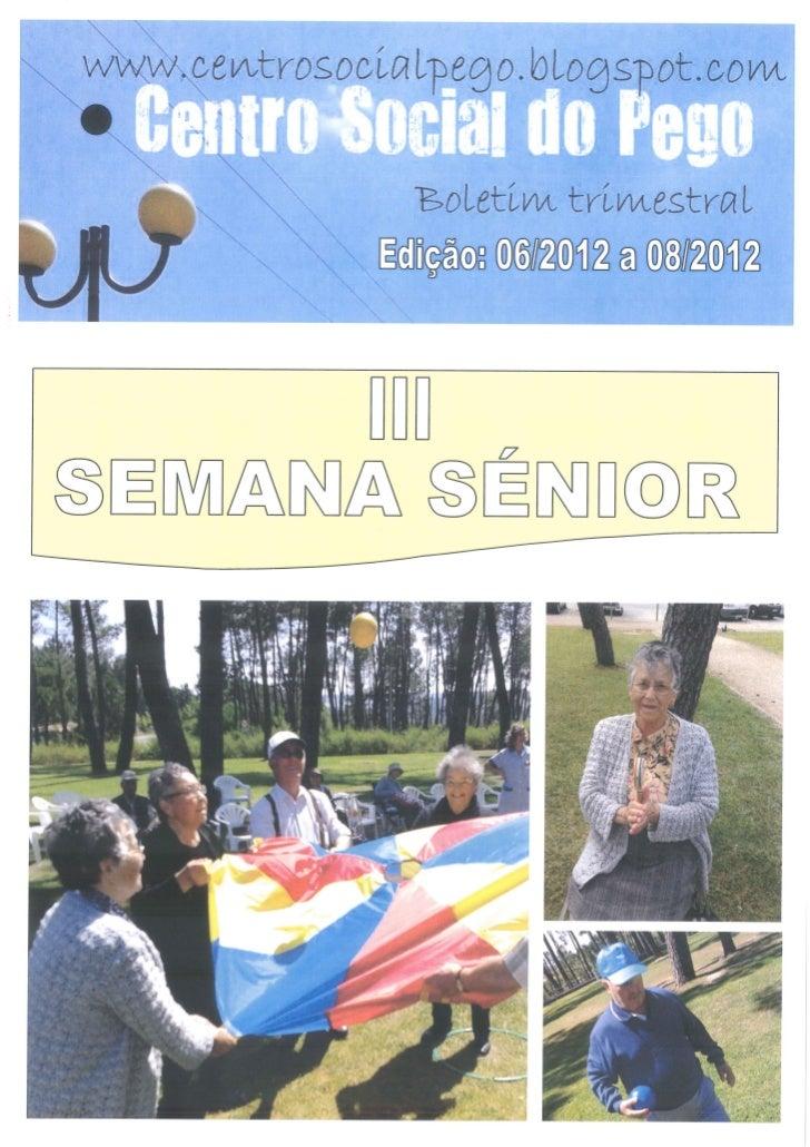 Boletim Trimestral Junho Junho Agosto 2012