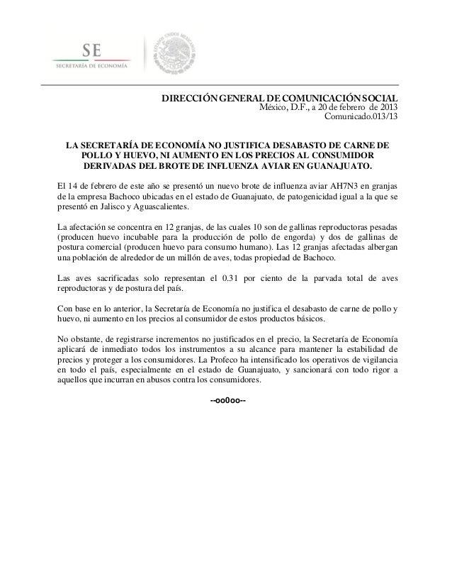 DIRECCIÓN GENERAL DE COMUNICACIÓN SOCIAL                                             México, D.F., a 20 de febrero de 2013...