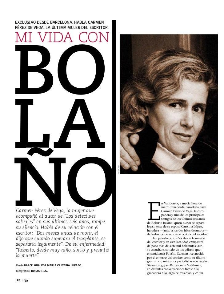 Exclusivo dEsdE BarcElona, haBla carmEnPérEz dE vEga, la última mujEr dEl Escritor:BoMi vida conlaño                      ...