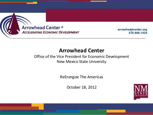 arrowheadcenter.org                                                     575-646-1434             Arrowhead CenterOffice of...