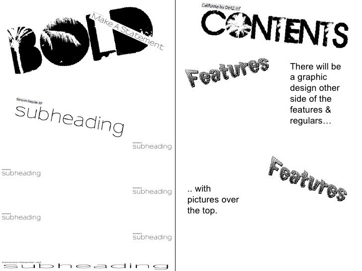 Bold, make, a, statment, features, regulars, subheadings