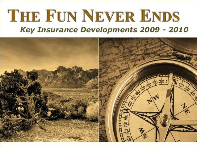Key Insurance Developments 2009 - 2010