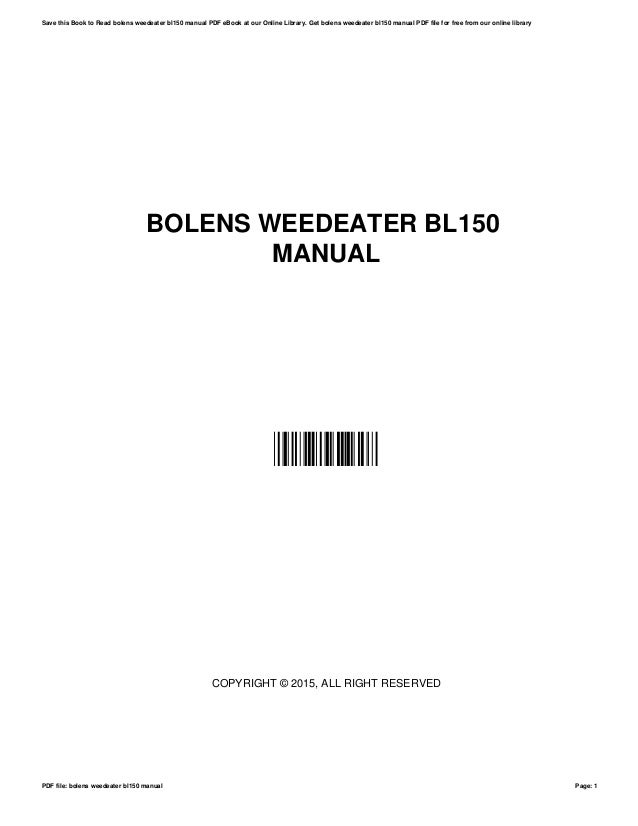 Bolens 110 weed eater manual free wiring diagram for you •.