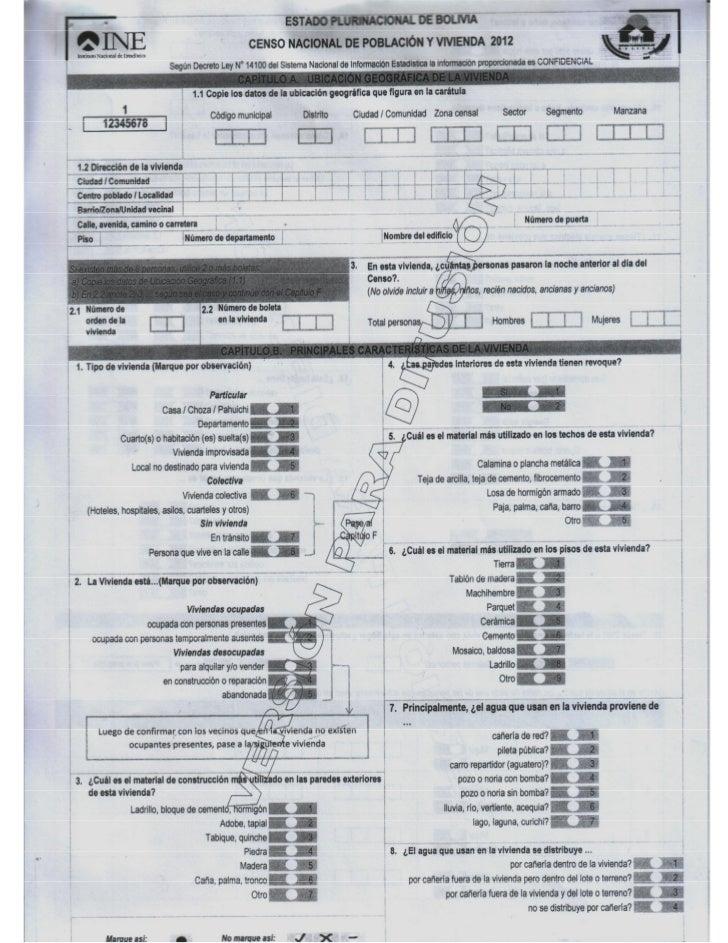 Boleta Censo 2012