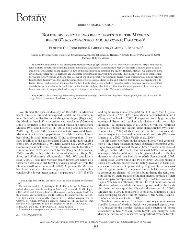American Journal of Botany 97(5): 893–898. 2010.                                                           BRIEF COMMUNICA...