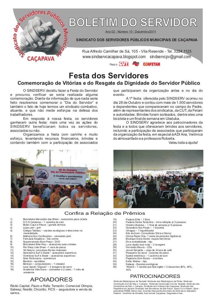 BOLETIM DO SERVIDOR                                                                           Ano 02 - Número 10 - Dezembr...