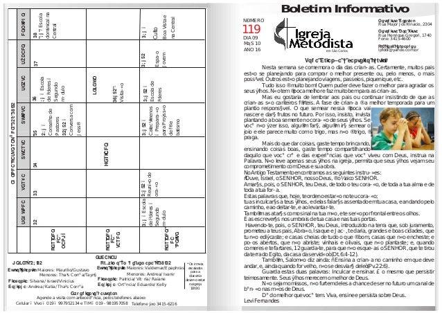 AGENDAPASTORALDE10a16/10 SEGUNDATERÇAQUARTAQUINTASEXTASÁBADODOMINGO PERÍODO DA MANHÃ 10111213141516 PERÍODO DA TARDE PERÍO...